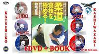 Judo. Técnica de lucha libre (NE WAZA).  Katsuhiko Kashiwazaki.  Libro + 6 dvd.