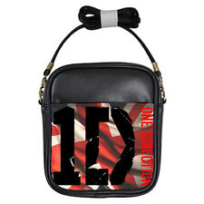 One Direction Union Jack Black Leather Sling Crossbody Bags Wallet Purse Phone