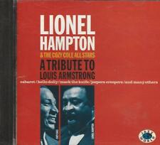 Music CD Lionel Hampton & The Cozy Cole All Stars Tribute To Louis Armstrong