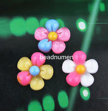 12pcs Resin Flatback Scrapbooking Flower For DIY Phone /Craft Christmas C19