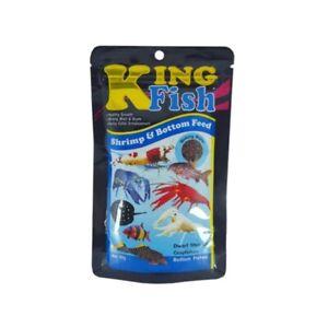 King Fish Aquarium Tropical Dwarf Shrimp Crayfishes Bottom Fishes Flake Food 60g