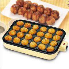 24 Holes Takoyaki Grill Pan Plate Cooking Baking Octopus Ball Maker Kitchen 220V