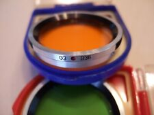 Meopta B36 GR1 and G3 lens filters for Flexaret TLRs in cases