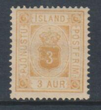 Iceland - 1889, 3a Orange-Ochre Official stamp - L/M - SG O20a