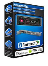 Peugeot 206 car radio Alpine UTE-72BT Bluetooth Handsfree Mechless Stereo