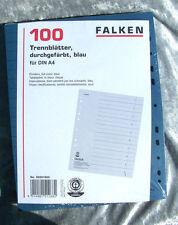 Registro Blu Foglie Cartone per A4 Cartella 24x30 Separatori Ordinamento Mensola