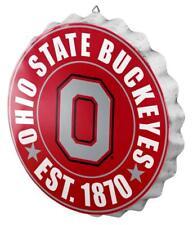 "Ohio State Buckeyes Bottle Cap Sign - Est 1870 - Room Bar Decor NEW 13.5"""