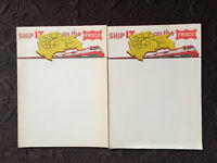 Lot of 2 SHIP IT ON THE FRISCO RAILROAD NOTEPAD VINTAGE