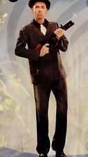 New 2 Pcs Man Gangster suit Halloween adult costume cosplay party sz XXL Black