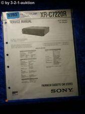 Sony Service Manual XR C7220R Car Stereo (#5393)