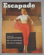 ESCAPADE MAGAZINE DEC 1958 OU OKLAHOMA UNIVERSITY JEANNE GALLAGHER BUNNY YEAGER