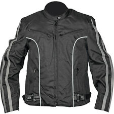 NexGen Textile Lightweight Motorcycle Jacket Black/Grey Womens XLarge