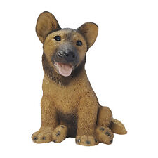 Puppy Dog: German Shepherd Breed Man's Best Friend Sculpture for Home or Garden