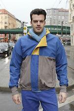 Odlo Sportswear Herren Jacke jacket blau blue gelb 80s True VINTAGE men 80er