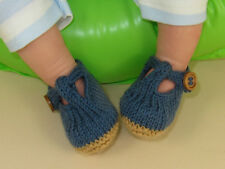 PRINTED INSTRUCTIONS-BABY T BAR SANDALS  SUMMER BOOTIES  KNITTING PATTERN