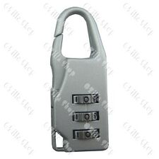 Mini 3 Digit Combination Lock Padlock Backpacker Bike Luggage Suitcase Security