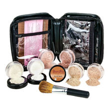 XXL KIT w/BRUSH & CASE (LT TAN) Mineral Makeup Set Bare Matte Powder Foundation