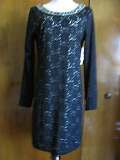 Denim & Supply Ralph Lauren womens black fabric lace crafted evening dress L NWT