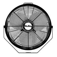 Wall Fan 12in 1360CFM Metal Blade Ceiling I-Beam Mount 3 Speed Pull Cord Black
