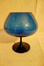 Weinbrand Glas Congnacschwenker blau  Lauscha Thüringen  um 1970er Jahre