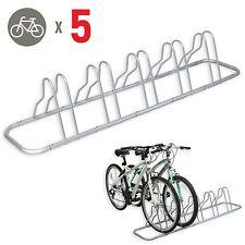 5 Bike Bicycle Rack Holder Stand Floor Parking Ground Stable Storage Garage Home