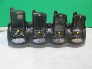 (QTY. 4) Motorola MC5590 MC5574-P7CDUQRA9WR Scanner w/ 4 Slot Cradle