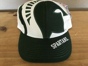 Big Logo The Game hat Michigan State Spartans  snap back  Green / White   MSU