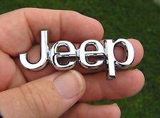 JEEP SMALL METAL CAR BADGE Chrome Emblem *NEW* Suit Cherokee, Laredo, Wrangler