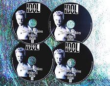 Button & FREE BILLY IDOL Video Archives 1978-2008 4 DVD Bundle Set Live & Ints.