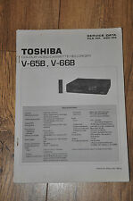 Toshiba V-65B, V66B VHS video cassette recorder workshop service manual.