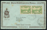 Deceased Estate 1934 Port Moresby Papua New Guinea First Day Cover - Rare [PP1]
