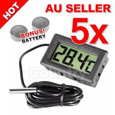 5x LCD Digital Thermometer for Fridge/Freezer/Aquarium/FISH TANK Temperature