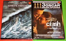 CRASH + LA TORMENTA PERFECTA / THE PERFECT STORM -DVD R2- English Español -Preci