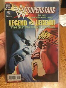 SUPER GENIUS COMICS: WWE SUPERSTARS: STONE COLD VS. HULK HOGAN!  #9 2014 PM 2.