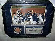 2009 New York Yankees Championship Celebration Photo with Dirt Capsule