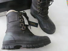 Polo Ralph Lauren Mens Longhirst Duck Toe Shearling Snow Boots Black Size 11