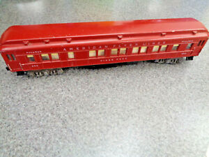 American Flyer S Gauge 1954 #952 Pikes Peak Heavyweight Coach , Layout Ready