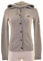 HOLLISTER Womens Hoodie Sweater Size 10 Small Grey Cotton  NO14