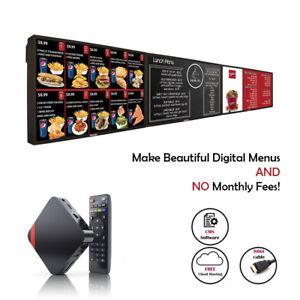 (2GB) Digital Signage Player for Digital Menu Boards + FREE Signage Software