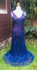 John Lewis Full Length Dress 'Sidney Sequin' Purple - UK 14 - Stunning -RRP £199