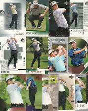 63 STUART APPLEBY GOLF CARD LOT UD SPA INSERTS 2001 - 2004
