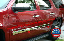 """2007- 2009.5 Chevy Tahoe Body Side Molding Trim Overlay 3 1/2"""" Overlay Stainless"""