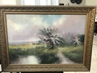 william henry chandler Pastel Painting,