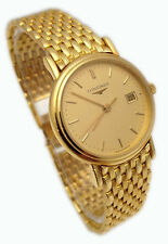 LONGINES OROLOGIO DONNA BRACCIALE ORO MASSICCIO 18 KT WATCH WOMAN GOLD BRACELET