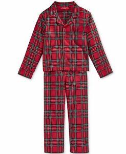New Family Pajamas Kids Brinkley Plaid Pajama Set, XL(14/16)