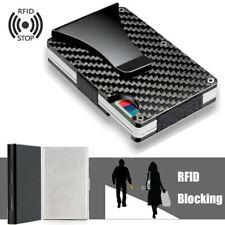 RFID Wallet Slim Aluminum Wallet Credit Card Holder Carbon Fiber Money Clip