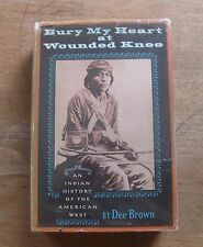 BURY MY HEART AT WOUNDED KNEE - Dee Brown 1st edition stated HCDJ -1971- $10.95
