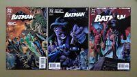 Batman 619 1st Hush Covers B Foldout, C and D Variants DC Comics