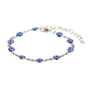 Amulet Evil Eye Bracelet Women Men 18K Gold Plated Handmade Adjustable Jewelry