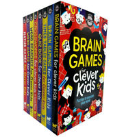 Gareth Moore Brain Gaming For Clever Kids,Quiz Book 8 Books Collection Set pack